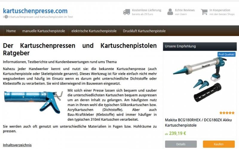 kartuschenpresse.com - Der Ratgeber zur Kartuschenpistole