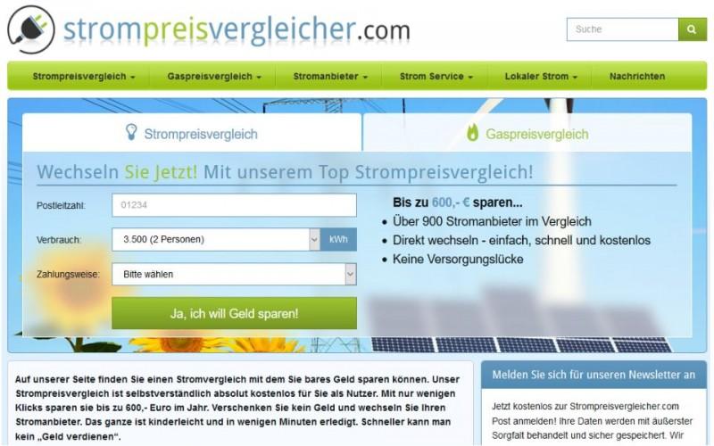 Strompreisvergleicher.com - sparen durch einen Strompreisvergleich