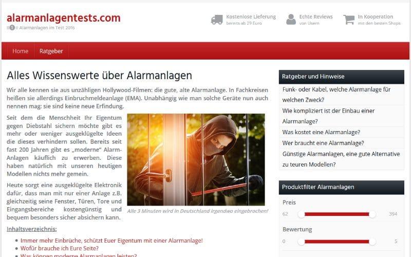 alarmanlagentests.com - Der Ratgeber zur eigenen Alarmanlage
