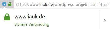 Umstellung iauk.de auf https