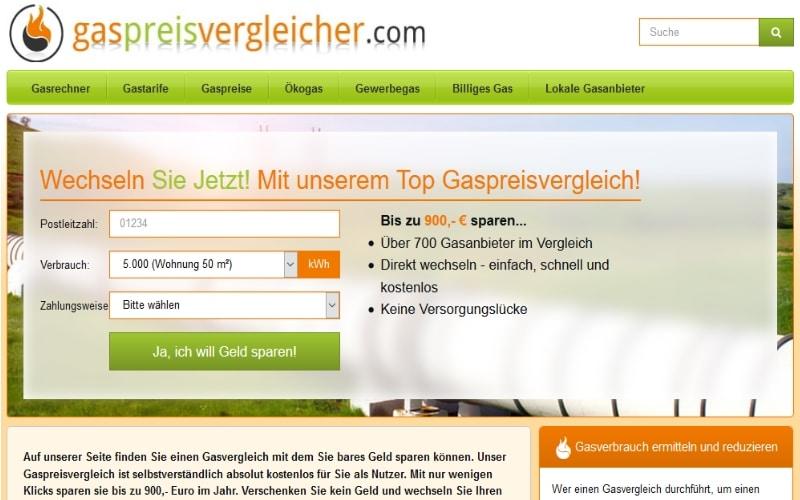 Gaspreisvergleicher.com - sparen durch einen Gaspreisvergleich